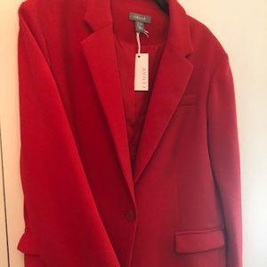 Kenar Poppy Red Structured Blazer